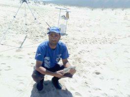 Florindo Oliveira, atleta d'Os Ílhavos em Pesca Desportiva