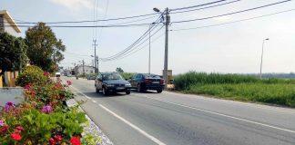 Rua do Norte - Gafanha de Aquém. Foto: Pedro Marieiro. Moradores atuam junto dos condutores alertando para a segurança rodoviária.