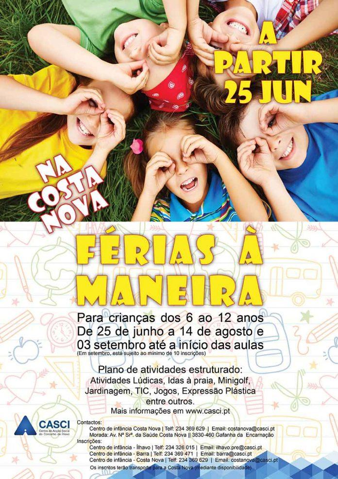 Cartaz Férias à Maneira - CASCI - 2018